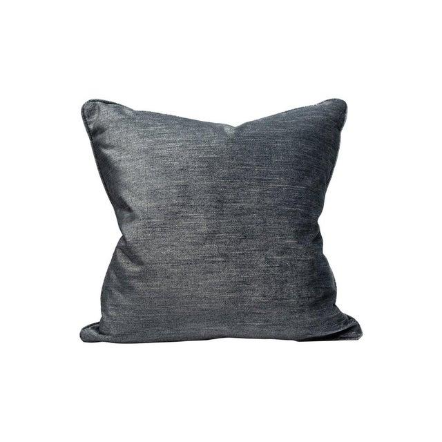 Traditional Supreme Velvet Pillow, Ebony For Sale - Image 3 of 3