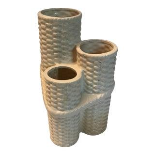 Basketweave Ceramic Vase