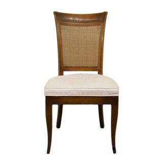 Late 20th Century Italian Provincial Style Cane Back Dining Side Chair For Sale