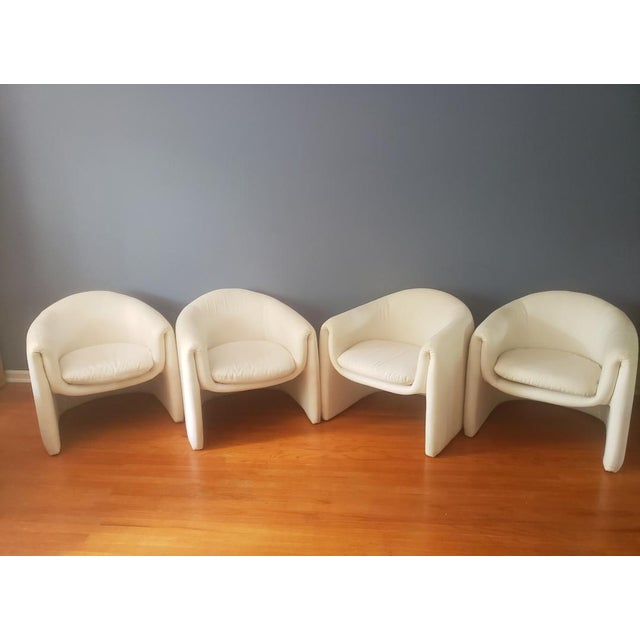 1980s Vintage Vladimir Kagan Sculptural Arm Chairs- A Pair For Sale - Image 12 of 13