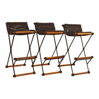 Campaign / X-Bar Stools (Model Number XBS-35) by Cleo Baldon for Terra For Sale