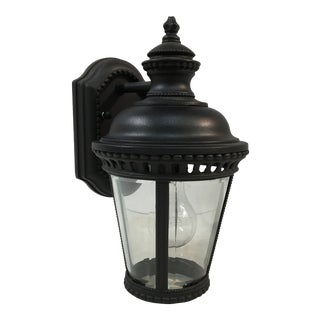 Feiss Castle Black Outdoor Wall Sconce For Sale