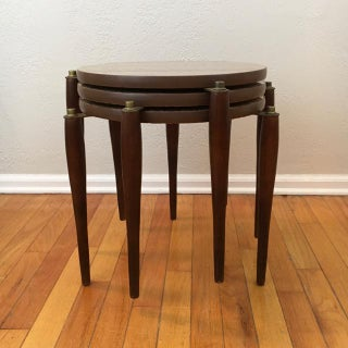 Mid-Century Round Marble Top Stacking Tables - Set of 3 Preview