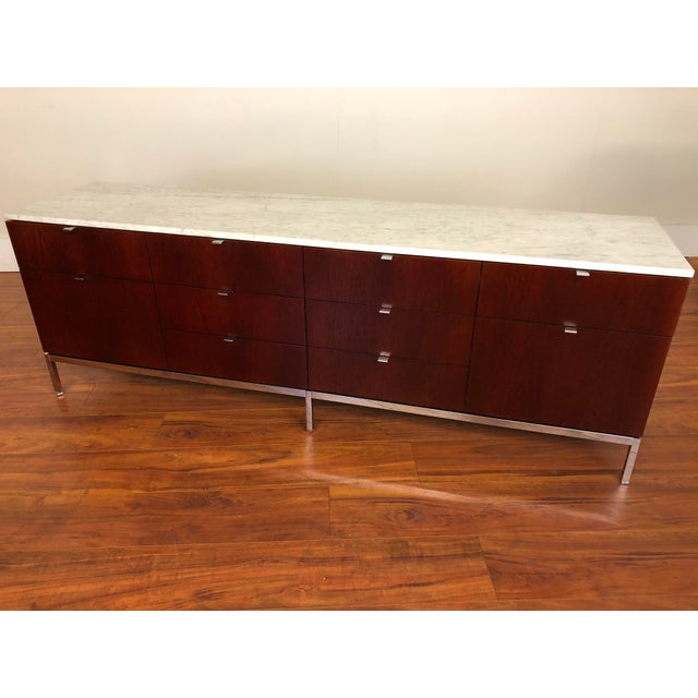 Florence Knoll Four Position Credenza With Marble Top For Sale In Seattle - Image 6 of 13