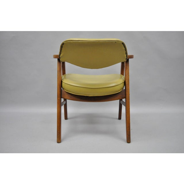 vintage gunlocke mid century modern danish style office chair chairish