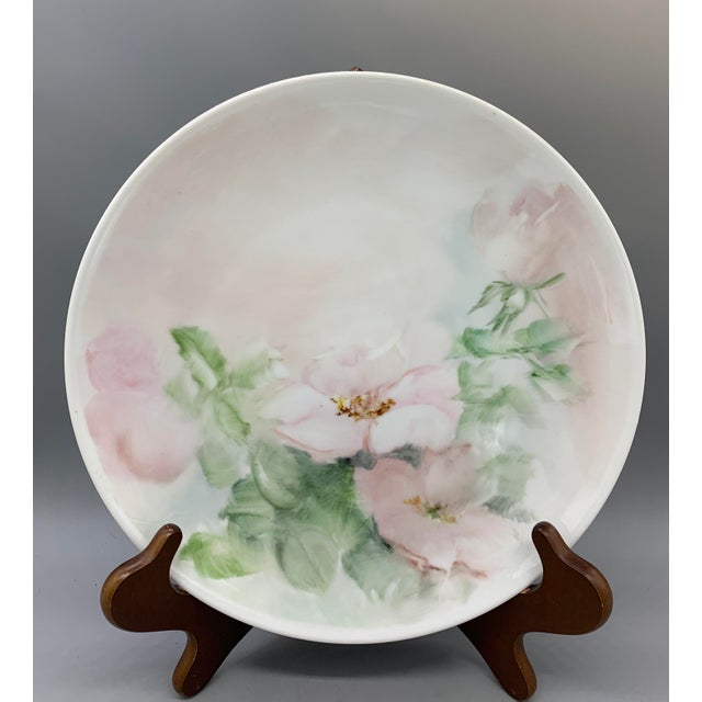 Yellow 1940s Hand Painted Floral Decorative Wedding Plates - Set of 7 For Sale - Image 8 of 13
