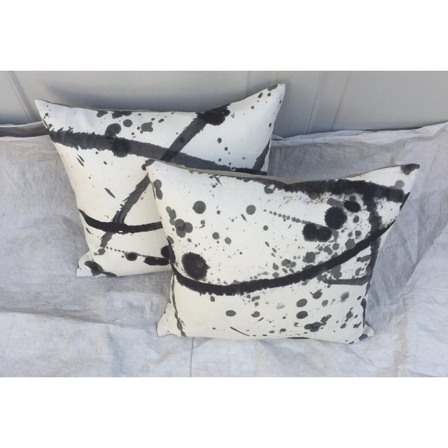 "Pierre Frey ""Leo"" Fabric Abstract Pillows - Pair For Sale - Image 4 of 8"