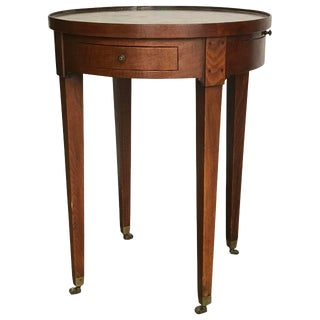 Late 19th Century Vintage French Mahogany Bouillotte Table For Sale