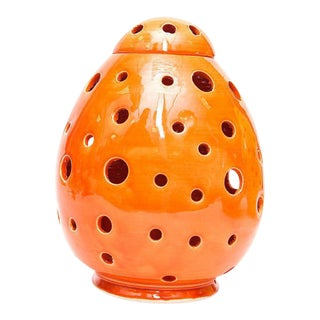 Orange Egg Form Table Lamp For Sale