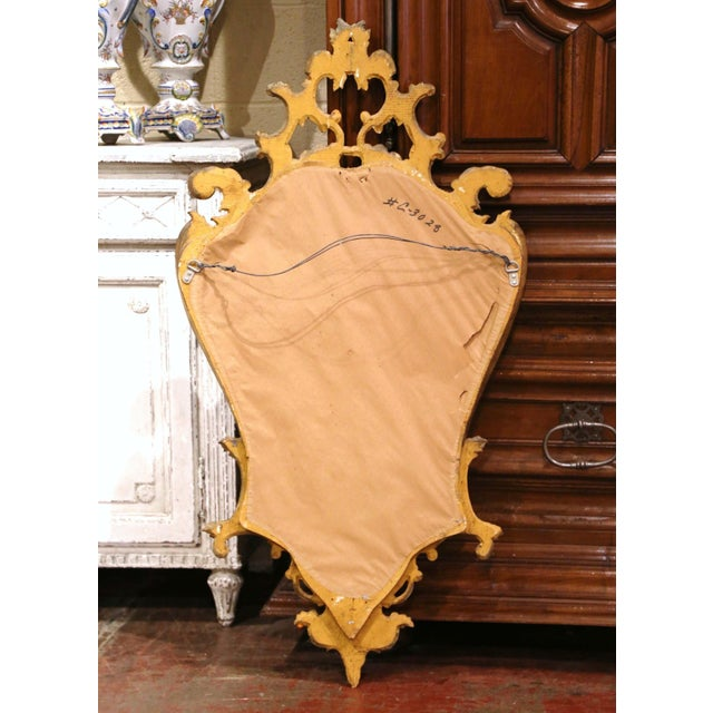 Early 20th Century Italian Rococo Carved Giltwood Wall Mirror For Sale In Dallas - Image 6 of 8