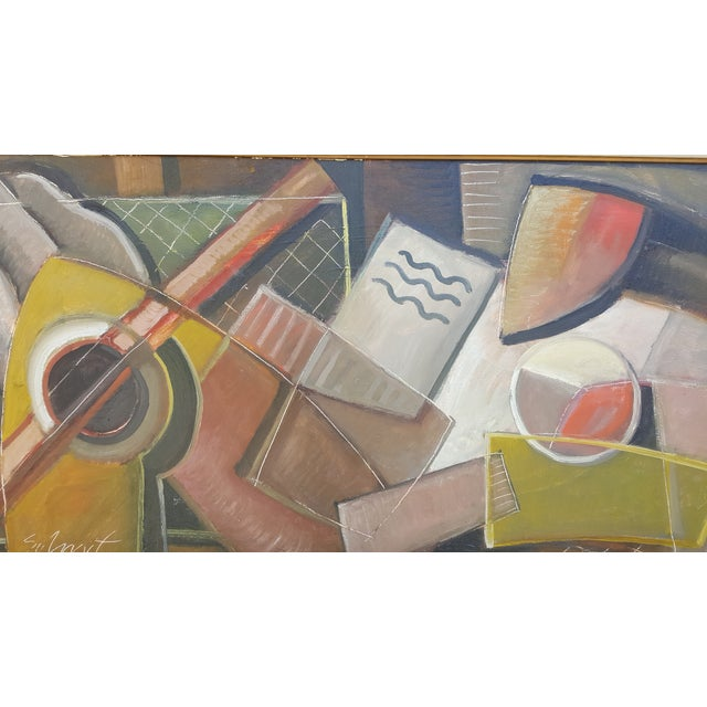 Abstract Still Life With Guitar For Sale - Image 3 of 11