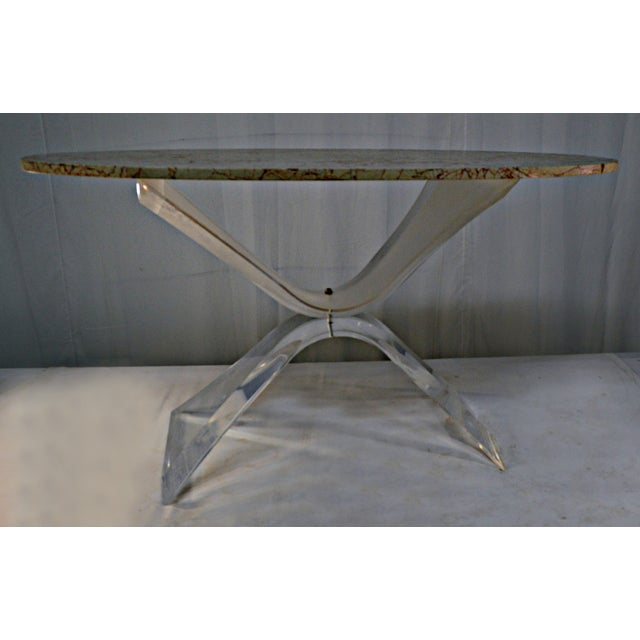 Lucite & Marble Coffee Table - Image 8 of 8