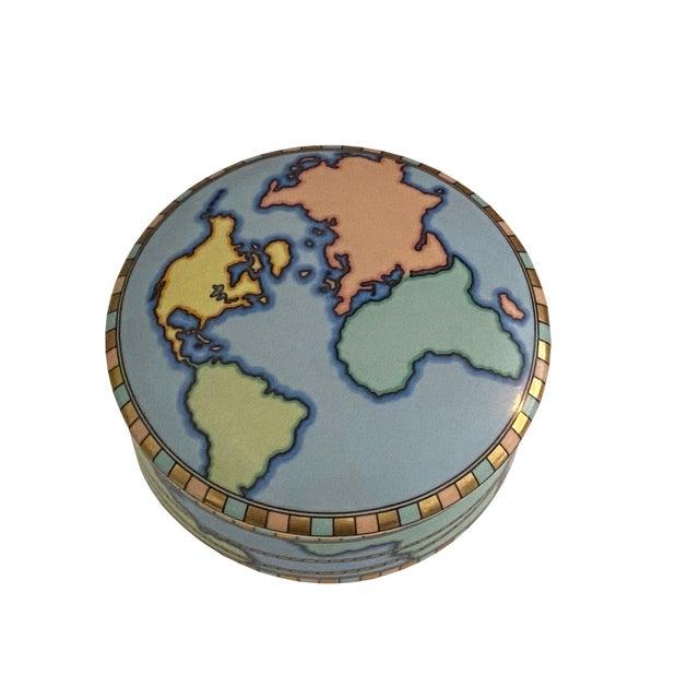 Mid-Century Modern Mid Century Tiffany Round World Box For Sale - Image 3 of 8