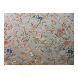 Old World Weavers/Scalamandre Sage Lampas Fabric - 3 Yards For Sale