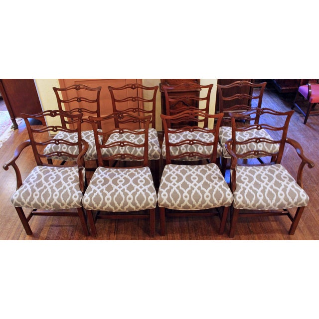 Chippendale Dining Chairs - Set of 8 For Sale - Image 9 of 9