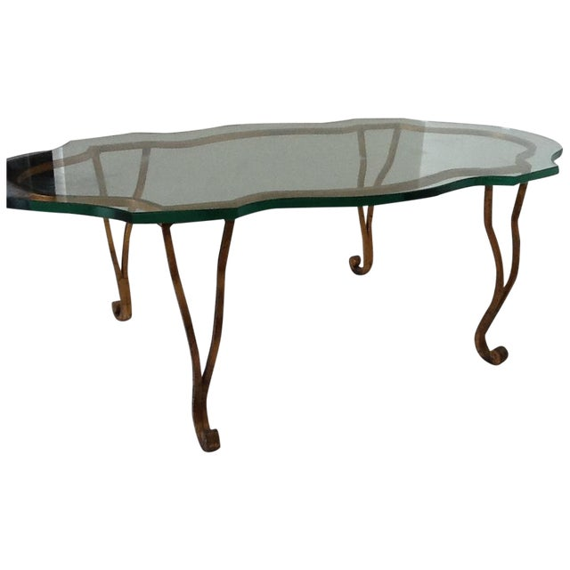 Vintage Iron Gold-Leaf Coffee Table - Image 1 of 5