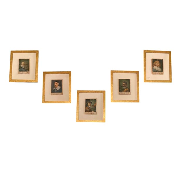 18th Century Italian Prints Newly Framed - Set of 5 For Sale