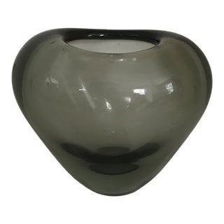 1950s Vintage Per Lutken Holmegaard Glass Vase For Sale
