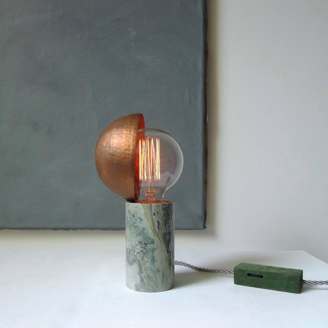 Copper Marble Table Lamps, Sander Bottinga For Sale - Image 8 of 9