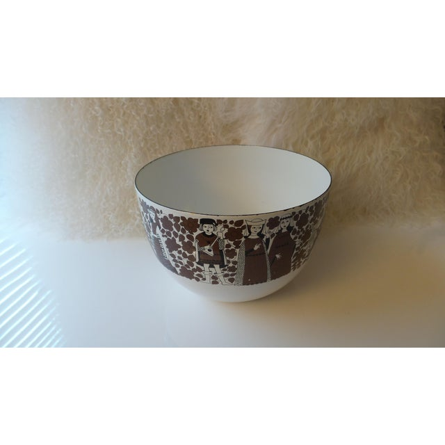 Danish Modern Kaj Franck for Arabia Finland Enamel Metal Bowl For Sale - Image 3 of 11