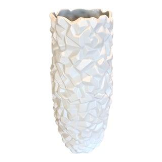 Modernist White Matte Bahari Iceberg Vase For Sale