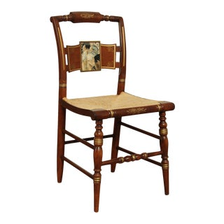 "Hitchcock Norman Rockwell ""Freedom of Worship"" Limited Edition Side Chair For Sale"