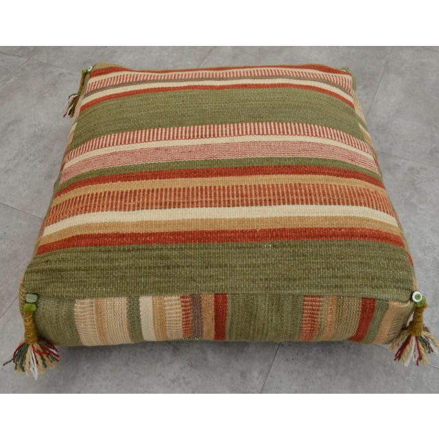 Turkish Hand Woven Floor Cushion Cover - Image 5 of 8