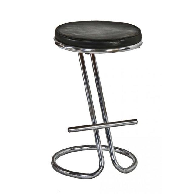 "Gilbert Rohde Chrome ""Z"" Bar Stool For Sale"