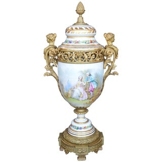 Bronze Figural Mounted Sevres For Sale