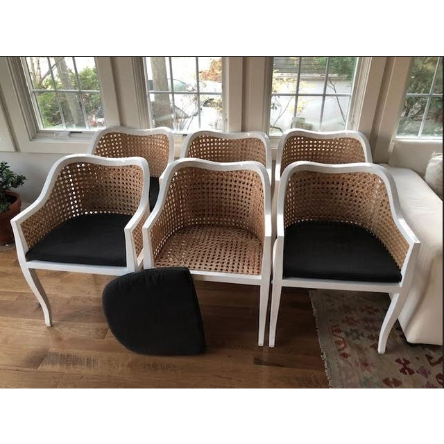 CB2 Tayabas Cane Side Chairs - Set of 6 For Sale - Image 5 of 5