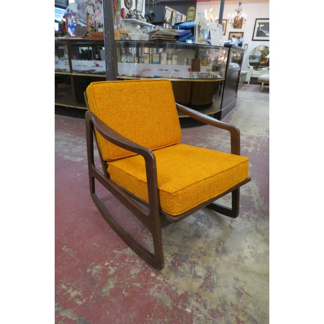 Vintage Danish Modern Teak Rocking Chair For Sale In Chicago - Image 6 of 6
