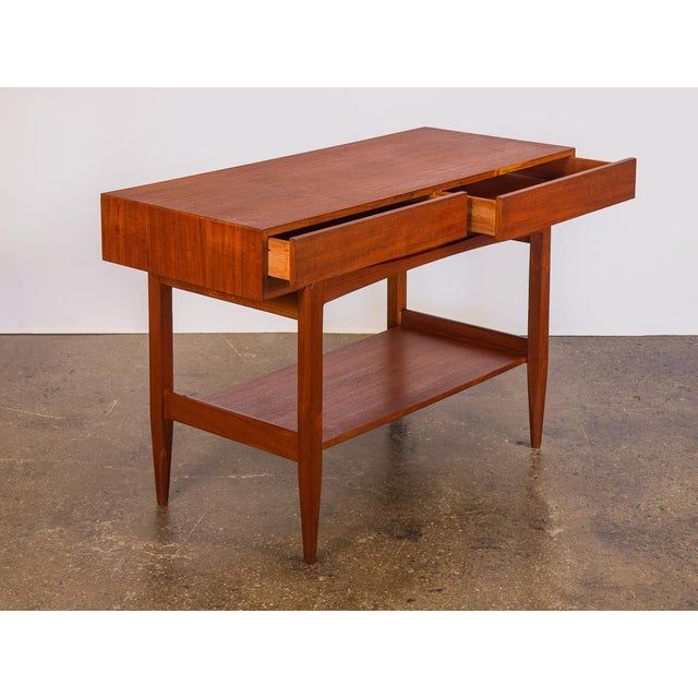 Danish Modern Ib Kofod Larsen Teak Console Table for Faarup For Sale - Image 3 of 11