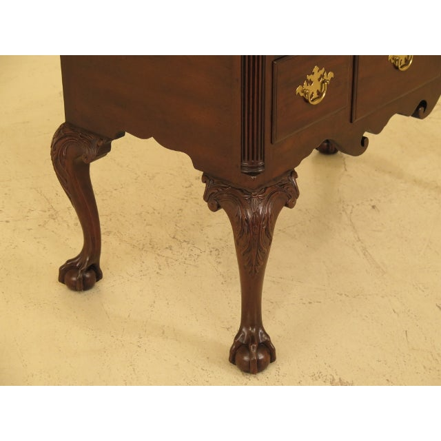 Kittinger Colonial Williamsburg Clawfoot Mahogany Lowboy For Sale In Philadelphia - Image 6 of 11