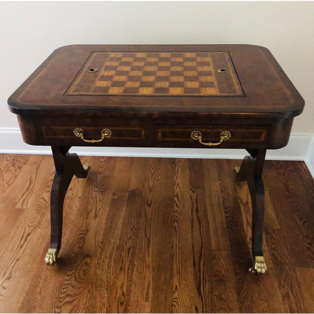 1990s Maitland-Smith English Regency Game Table For Sale - Image 13 of 13