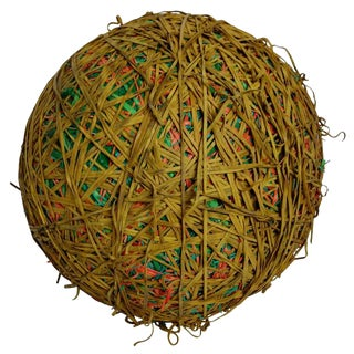 300 Pound Rubber Band Ball by NY Rubber Band Sculpture