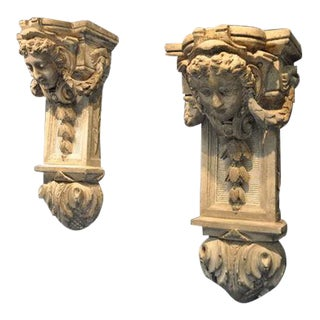 18th Century Plaster Corbels For Sale