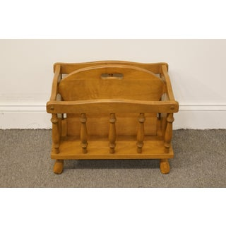 1960s Vintage George B. Bent Co. Gardener Ma Maple Colonial Style Magazine Rack Preview