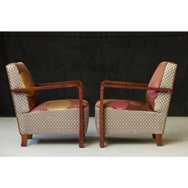1930s Pair of 1920s Art Deco Lounge Chairs from Buenos Aires For Sale - Image 5 of 11