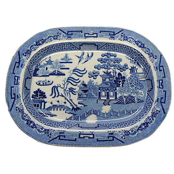 Circa 1830 Antique Rogers English Willow Platter - Image 1 of 2