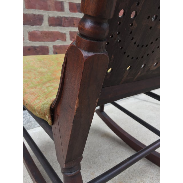 Wood *Last Chance* Antique Victorian Child's Rocking Chair For Sale - Image 7 of 13