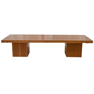 John Keal for Brown Saltman Expandable Walnut Coffee Table For Sale