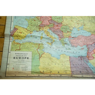 Antique Rand McNally European Pull Down Map Preview