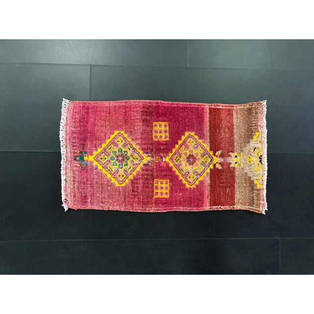 Vintage Anatolian Handmade wool Rug. One Of Kind Vintage Rug with perfect design and colors.