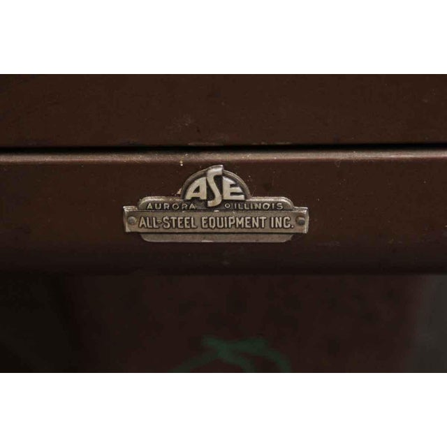 1960s Industrial Metal All Steel Office Executive Desk For Sale - Image 4 of 6