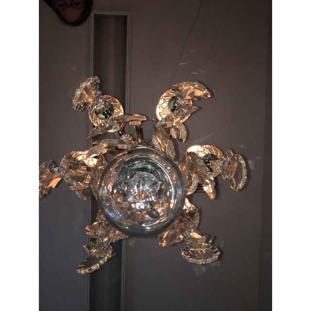 Vintage Hart Crystal Arm Chandelier For Sale - Image 10 of 11
