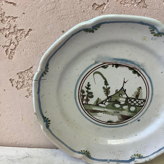 18th Century French Faience House Nevers Plate For Sale - Image 4 of 6