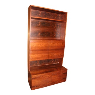 Mid-Century Modern Rosewood Cabinet Hutch, Bookshelves