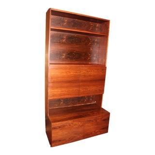 Mid-Century Modern Rosewood Cabinet Hutch, Bookshelves