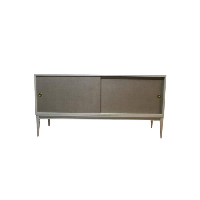 Customizable Bishop Lacquered Linen Door Console - Image 1 of 10