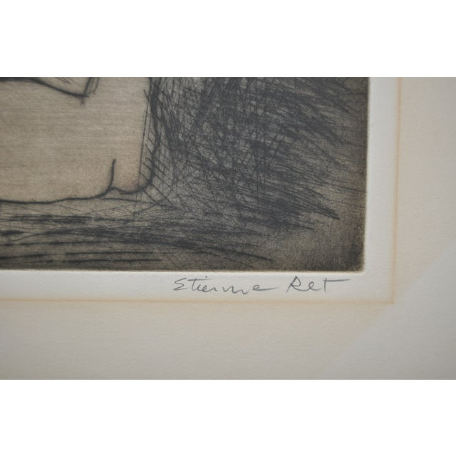 French Vintage 70's Etching by French Artist Etienne Ret For Sale - Image 3 of 6